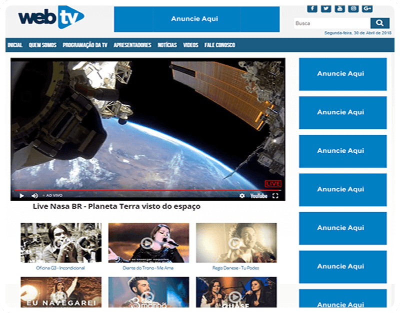 SITES PARA WEB TV